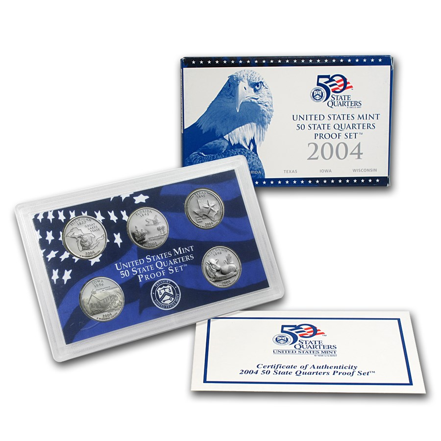 2004 50 State Quarters Proof Set