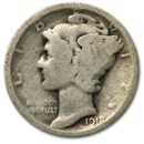 1918-D Mercury Dime Good/Fine