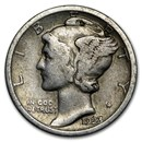 1923 Mercury Dime Good/VF