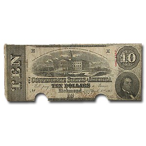$10 (T-59) Capitol @ Columbia, SC VF (Cancelled)