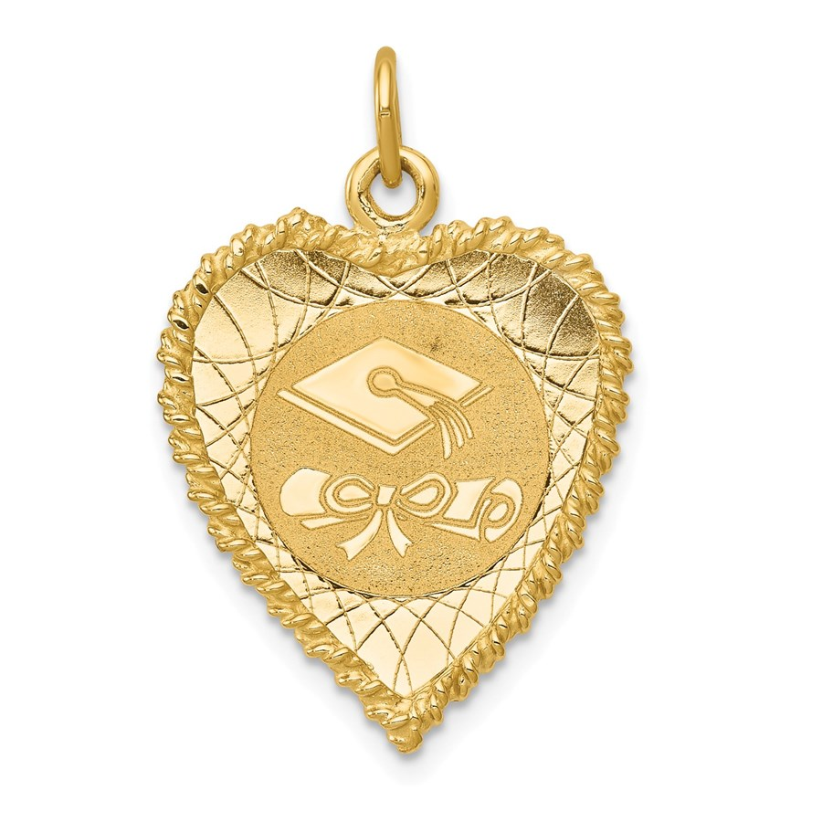14k Solid Gold Graduation Cap Charm - 1224A