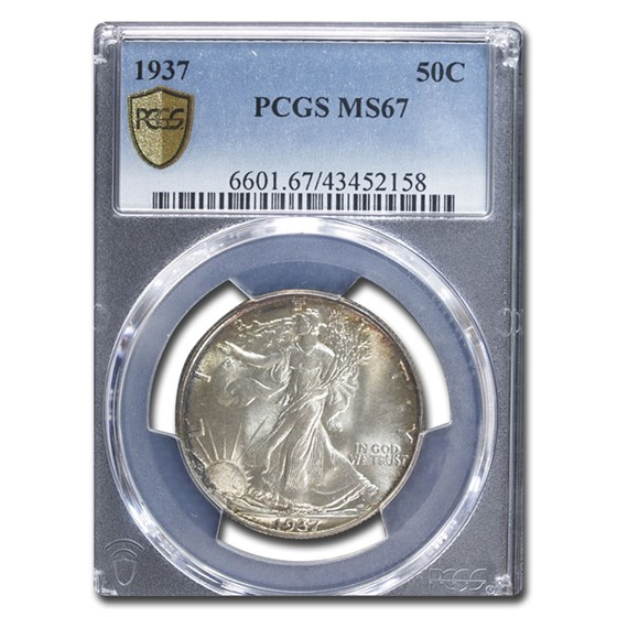 1937 Walking Liberty Half Dollar MS-67 PCGS