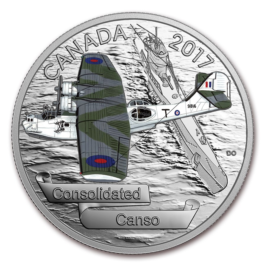 2017 Canada 1 oz Silver $20 Aircraft of WWII Consolidated Canso
