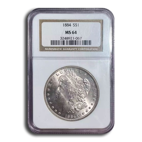 1884 Morgan Dollar MS-64 NGC