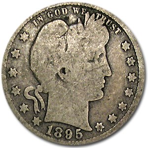 1895 Barber Quarter Good/VG