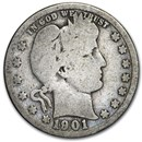 1901 Barber Quarter Good/VG
