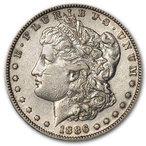 1886-S Morgan Dollar AU Details (Cleaned)