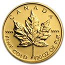 Canada 1/20 oz Gold Maple Leaf (Random Year)
