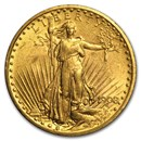 1908 $20 Saint-Gaudens Gold Double Eagle No Motto AU