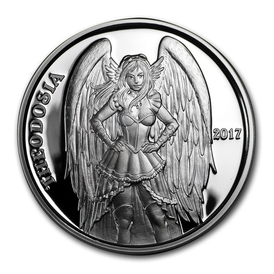 1 oz Silver Proof Round - Angels & Demons Series (Theodosia)
