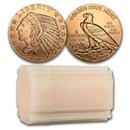 1/2 oz Copper Round - Incuse Indian (20 count tube)