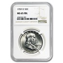 1959-D Franklin Half Dollar MS-65 NGC (FBL)