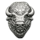 2017 Cook Islands 2 oz Silver Antique Finish American Buffalo