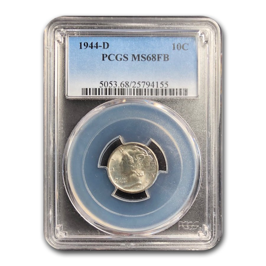 1944-D Mercury Dime MS-68 PCGS (FB)