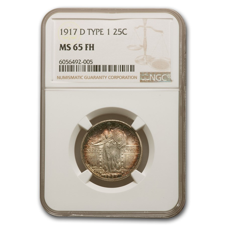 1917-D Standing Liberty Quarter Type-I MS-65 NGC (Full Head)