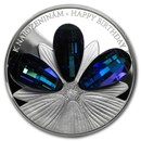 2016 Niue Silver Crystal Coin First Series Happy Birthday