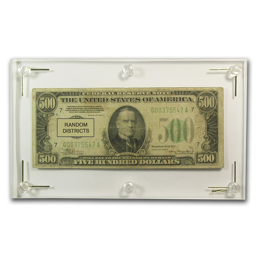 1934/34-A $500 FRN Good/VG - (Districts of Our Choice)