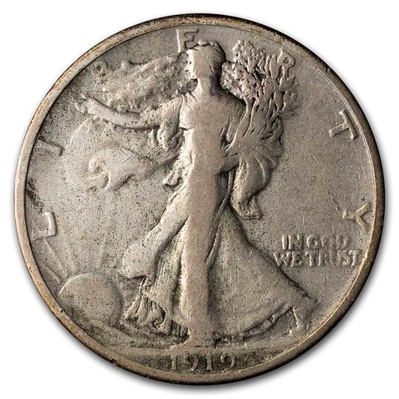 1919 Walking Liberty Half Dollar Fine