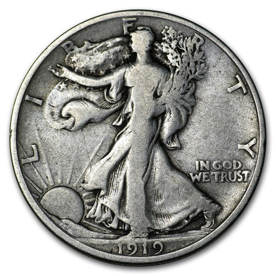 1919-D Walking Liberty Half Dollar Fine