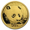 2018 China 3 gram Gold Panda BU (Sealed)