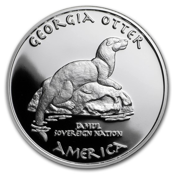 2017 1 oz Silver Proof State Dollars Cherokee Georgia Otter