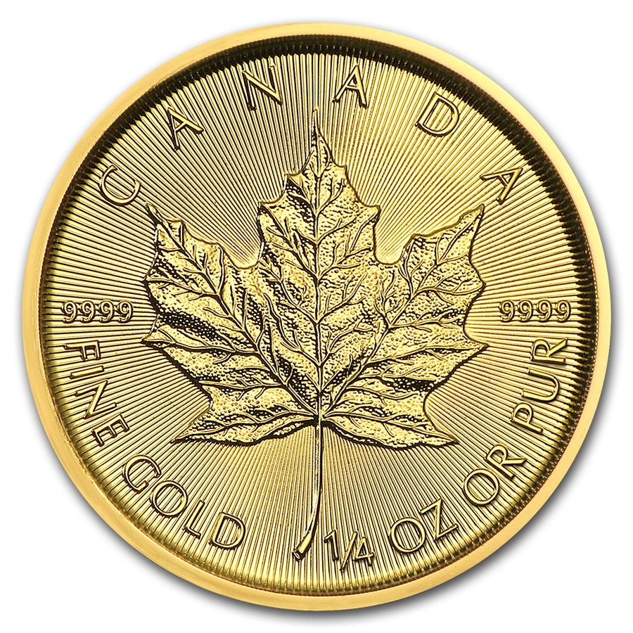 2018 Canada 1/4 oz Gold Maple Leaf BU