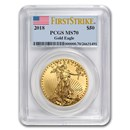 2018 1 oz Gold American Eagle MS-70 PCGS (FS)