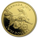 2018 Canada Gold $150 Year of the Dog Proof