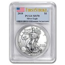 2018 Silver American Eagle MS-70 PCGS (FirstStrike®)