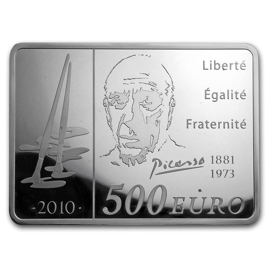 2010 France 1 kilo Silver €500 Pablo Picasso Proof