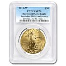 2016-W 1 oz Burnished Gold Eagle SP-70 PCGS
