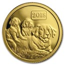 2018 Tokelau 1/2 gram Gold Lunar Year of the Dog