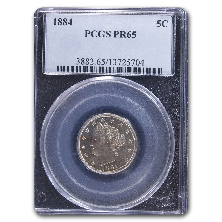 1884 Liberty Head V Nickel PR-65 PCGS