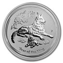 2018 Australia 1/2 oz Silver Year of the Dog BU (Series II)