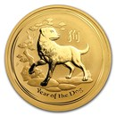 2018 Australia 1 oz Gold Lunar Dog BU (Series II)