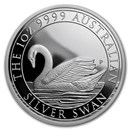 2017 Australia 1 oz Silver Swan Proof (w/Box & COA)