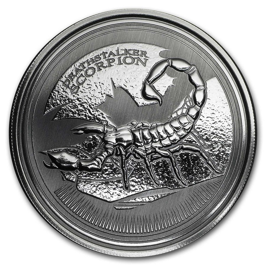 2017 Republic of Chad 1 oz Silver Deathstalker Scorpion BU