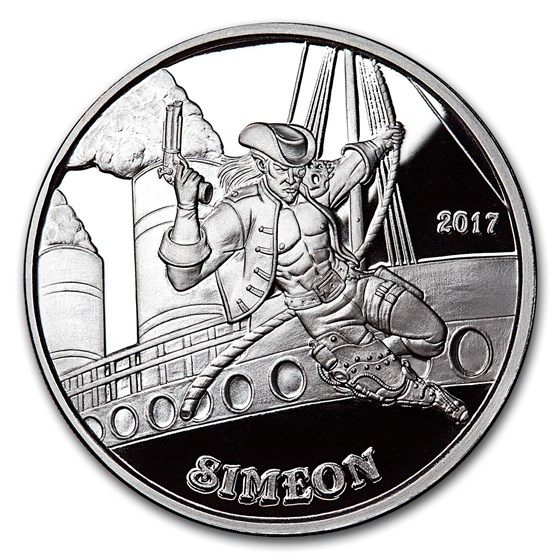 1 oz Silver Proof Round - Angels & Demons Series (Simeon)