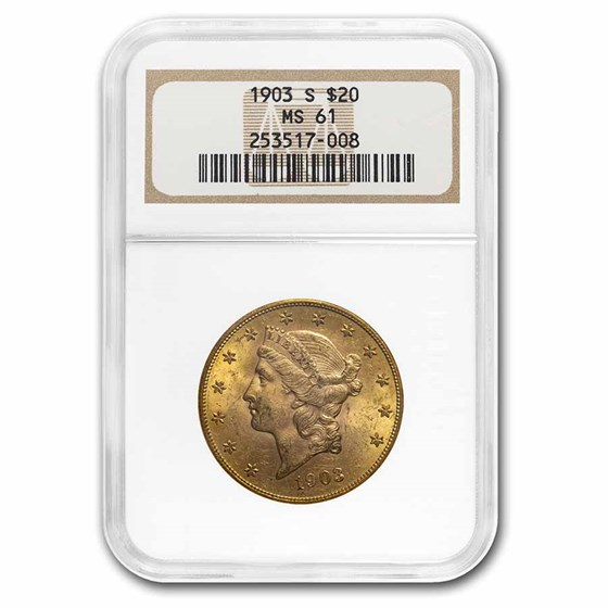 1903-S $20 Liberty Gold Double Eagle MS-61 NGC