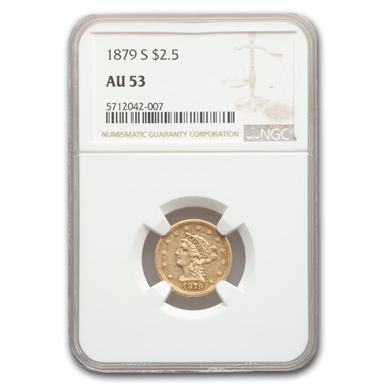 1879-S $2.50 Liberty Gold Quarter Eagle AU-53 NGC