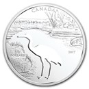 2017 Canada Silver $30 Endangered Animal Cut Out Whooping Crane