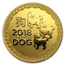 2018 Niue 1 oz Gold $250 Lunar Dog BU