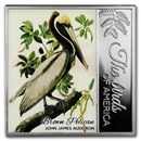 2017 Rep. of Cameroon Silver The Birds of America (Brown Pelican)