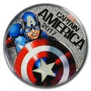 2017 Fiji 50 Cent Captain America Light Up (Specimen)