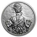 2017 Niue 2 oz Silver $5 Star Wars Han Solo Ultra High Relief