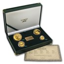 1999 South Africa 4-Coin Gold Natura Kudu Proof Set