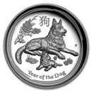 2018 Australia 1 oz Silver Lunar Dog Proof (HR, Box & COA)