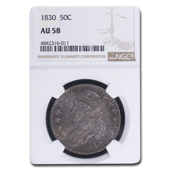 1830 Capped Bust Half Dollar Small O AU-58 NGC