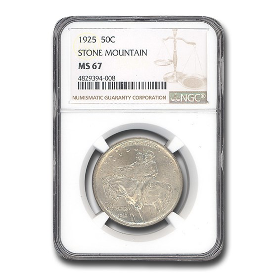 1925 Stone Mountain Memorial Half Dollar MS-67 NGC