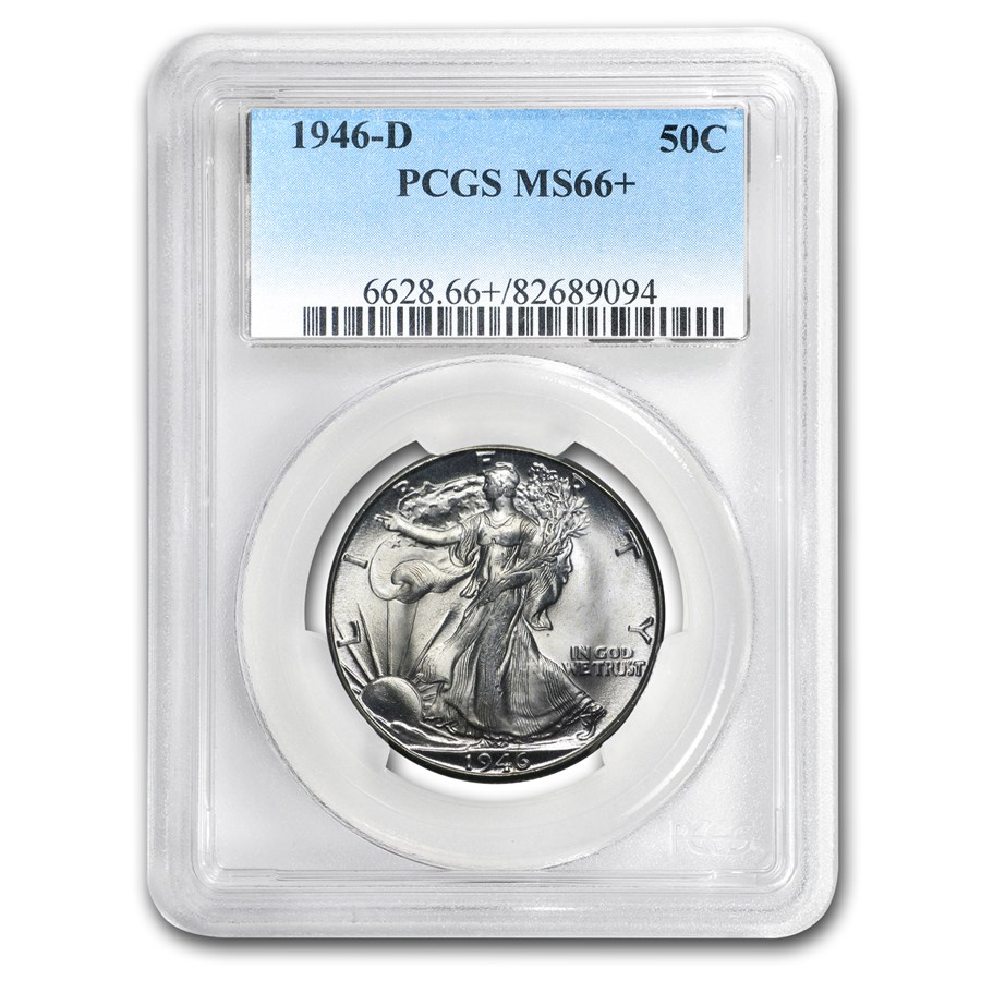 1946-D Walking Liberty Half Dollar MS-66+ PCGS